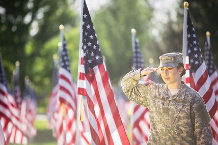 Hispanic American Female Soldier in unif