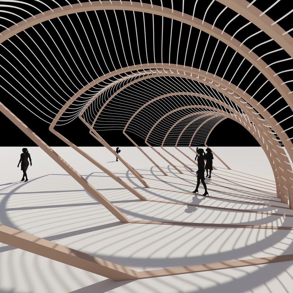 Random Arc Tunnel Pavilion