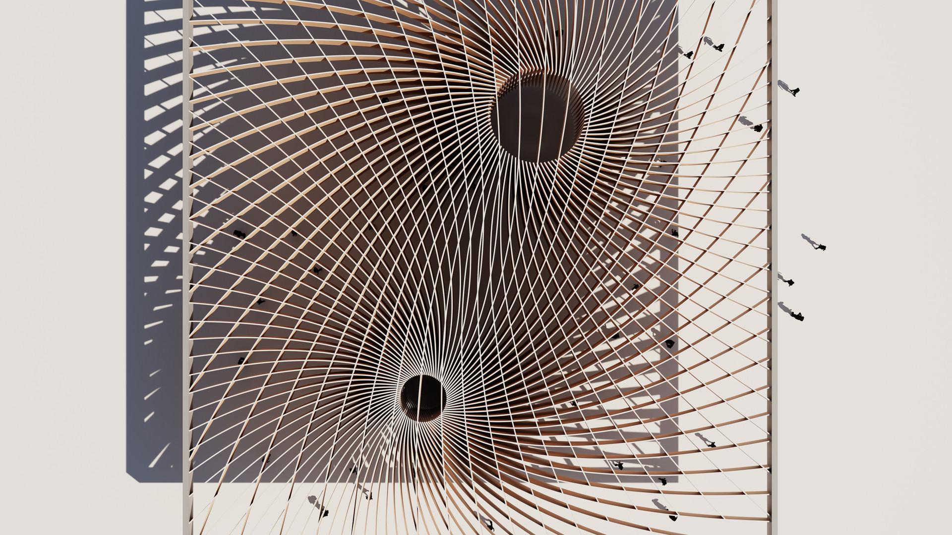 Spiral Waffle Pavilion