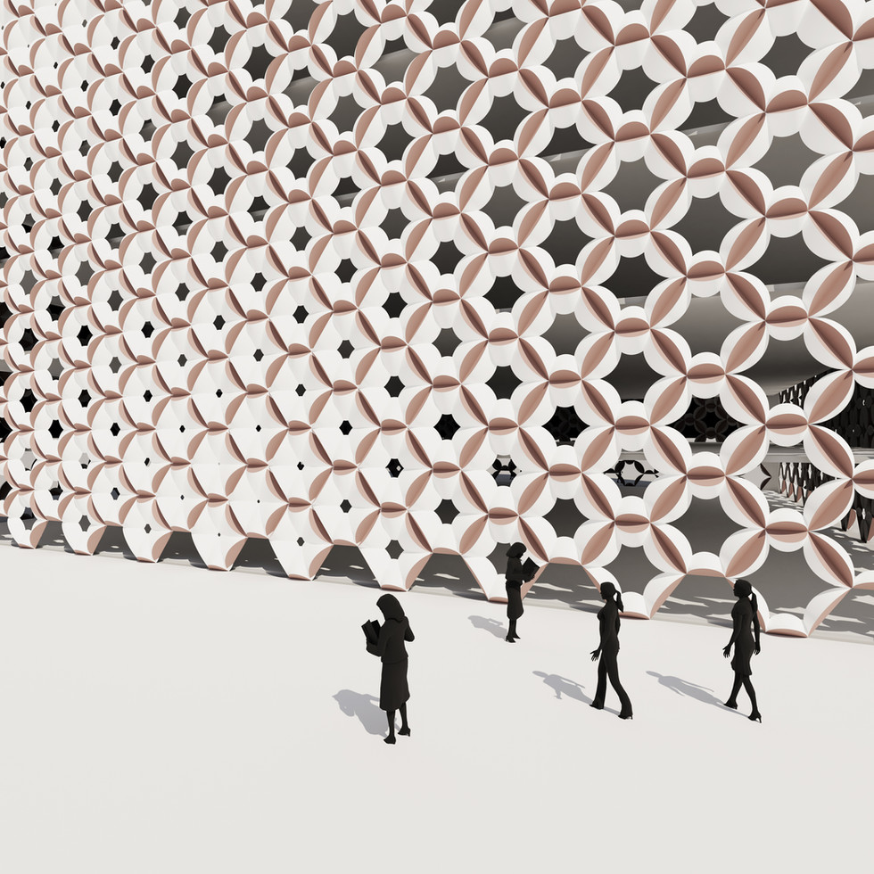 Extruded Hexagon Pattern