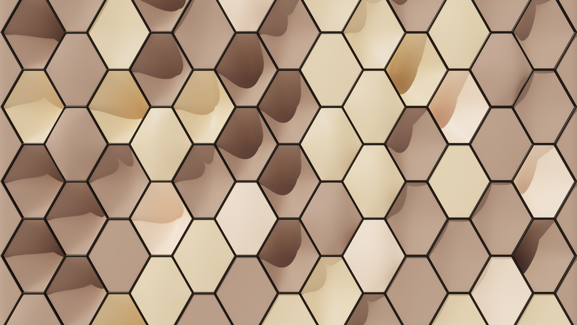 Inflated Hexagon Pattern