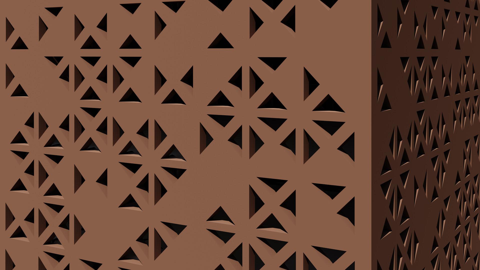 Triangle Gradient Pattern