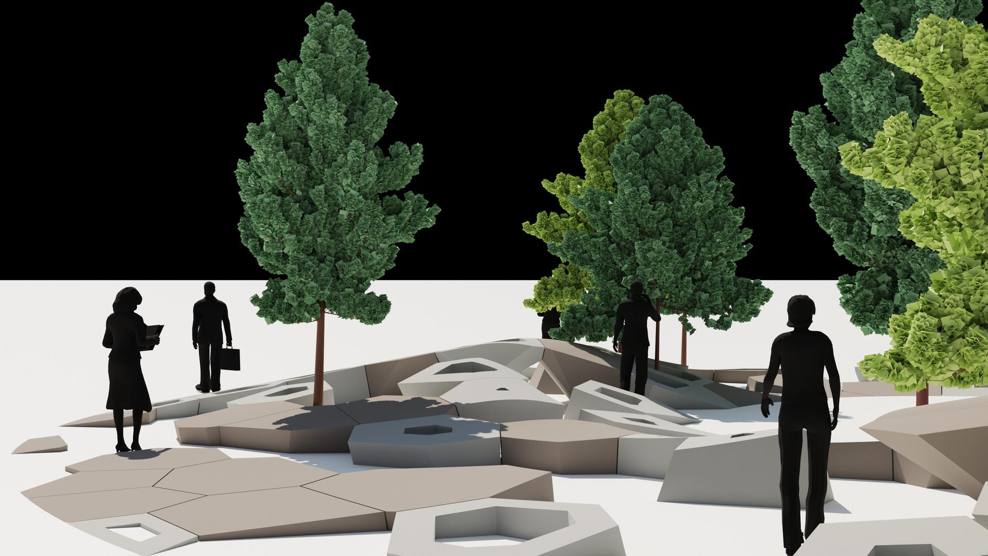 Circular Voronoi Landscape