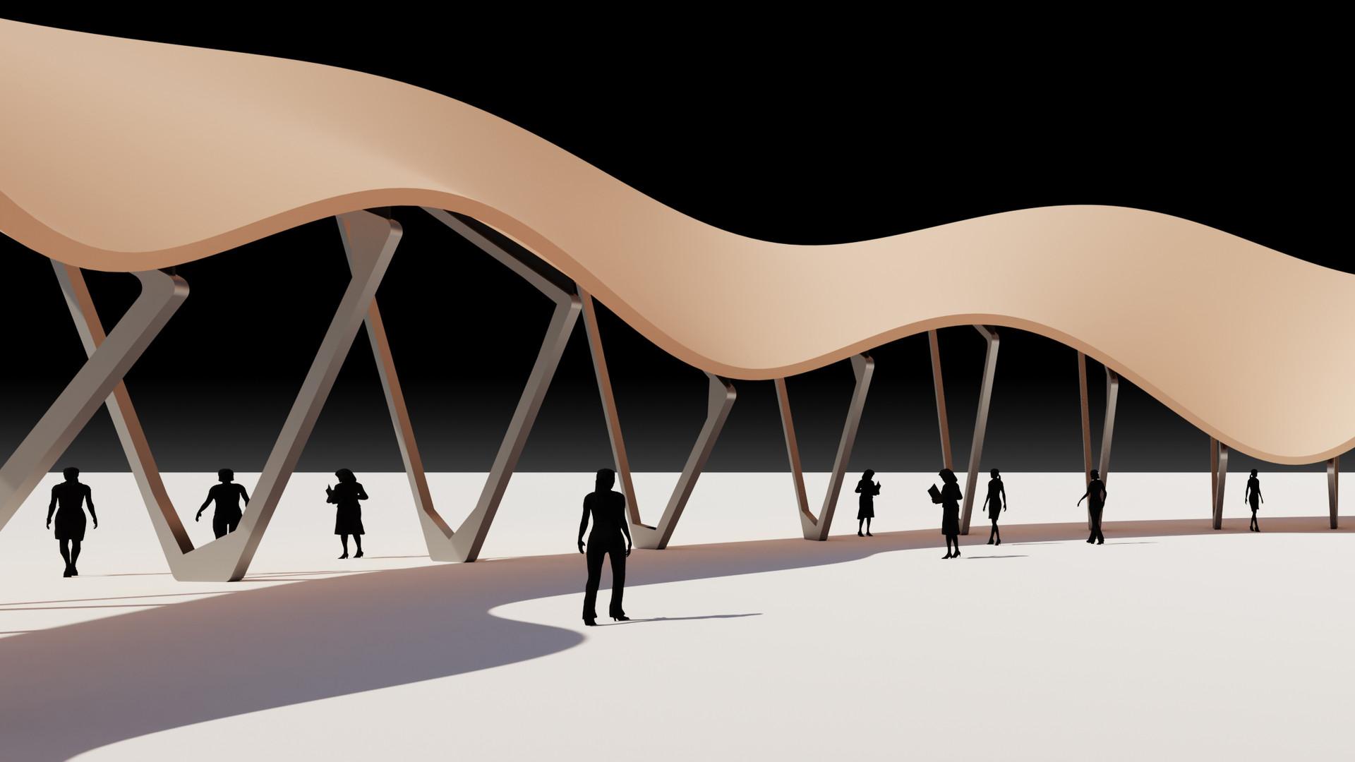 Wavy Shade Pavilion