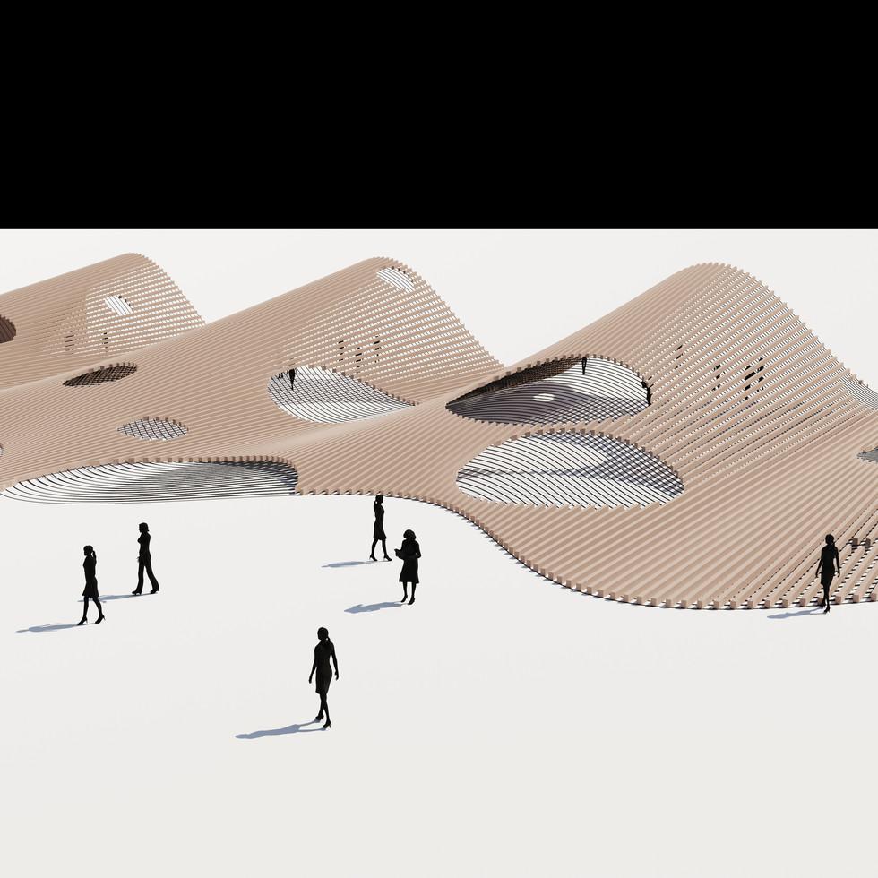 Sine Curve Cave Landscape
