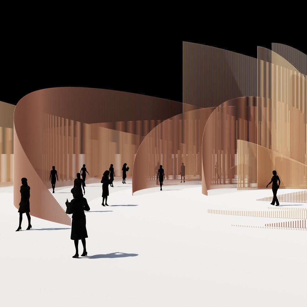 Random Radius Arcs Pavilion