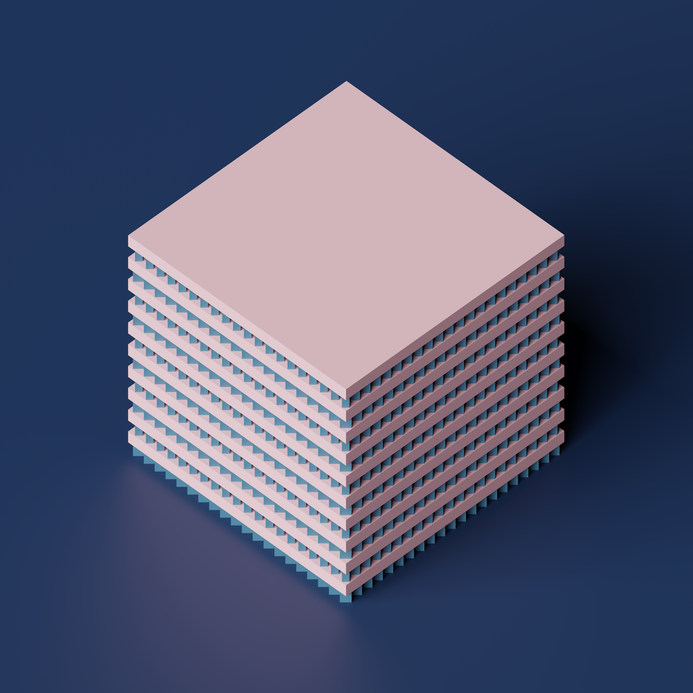 Scaled and Rotated Cubes