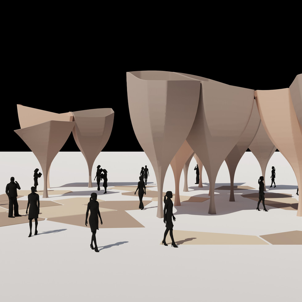 Voronoi Column Pavilion
