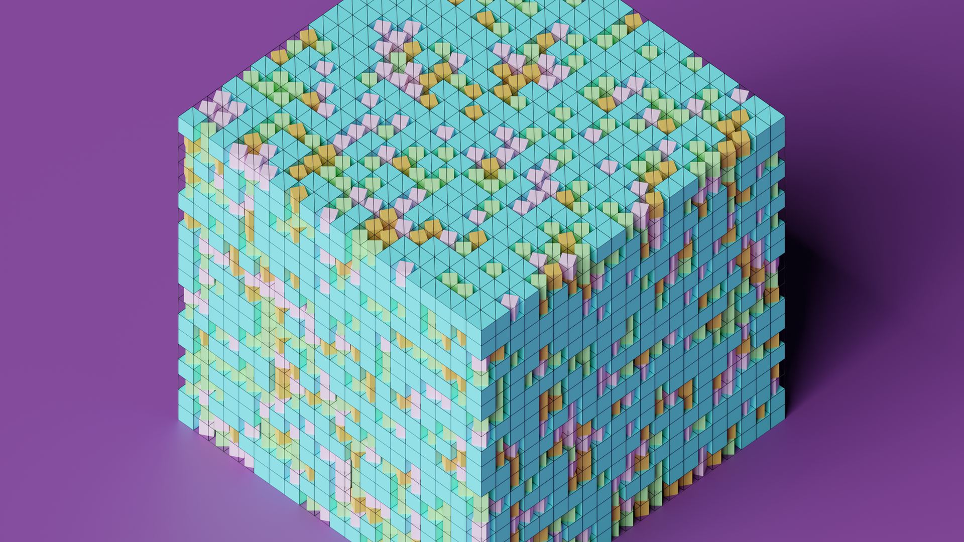 Scaled and Rotated Cubes 3