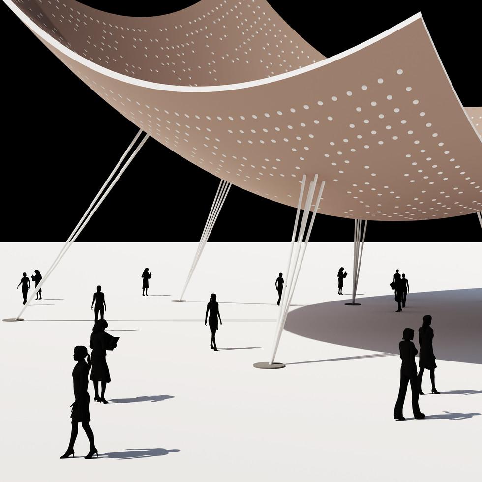 Circle Gradient Shell Pavilion
