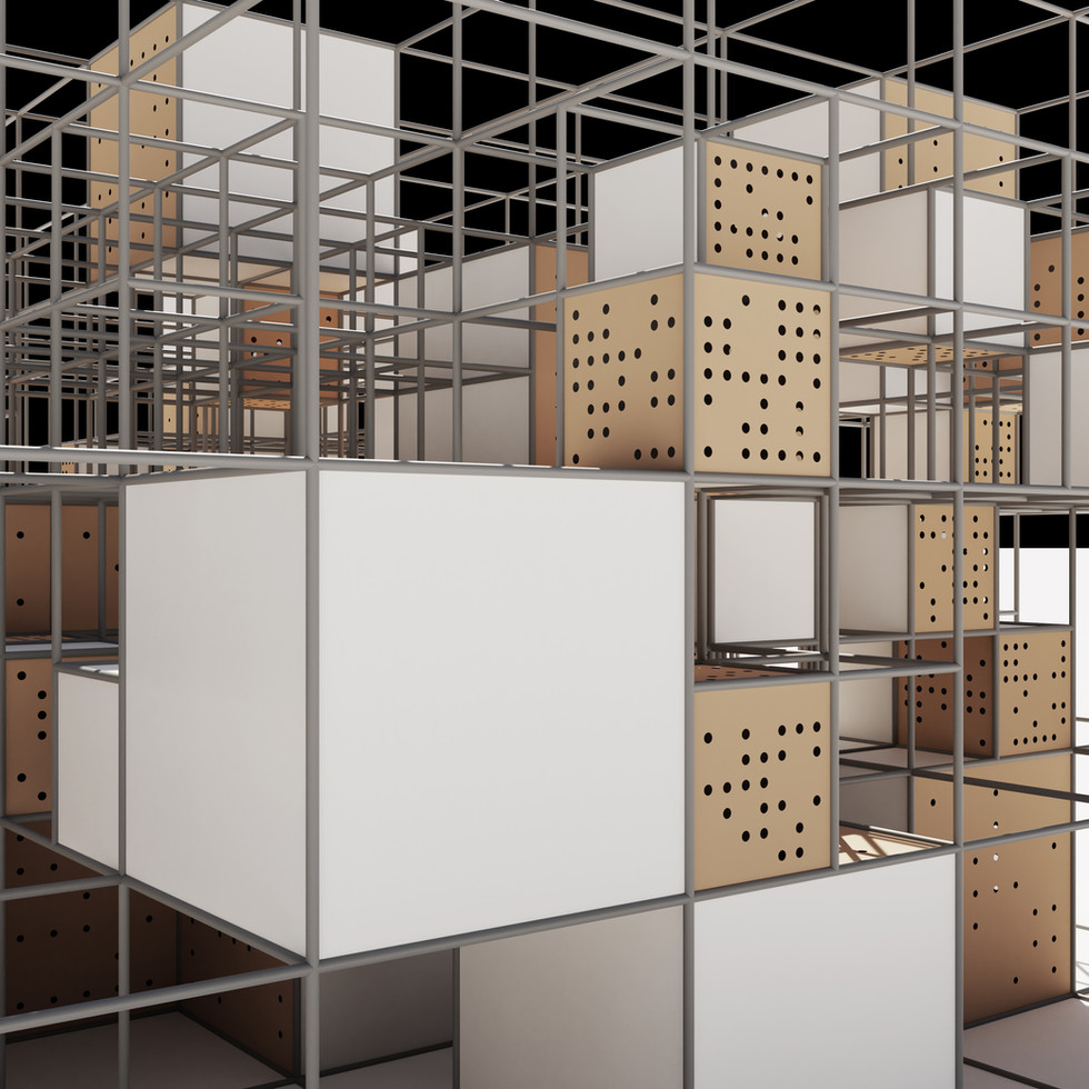 Cubes in Random Grid