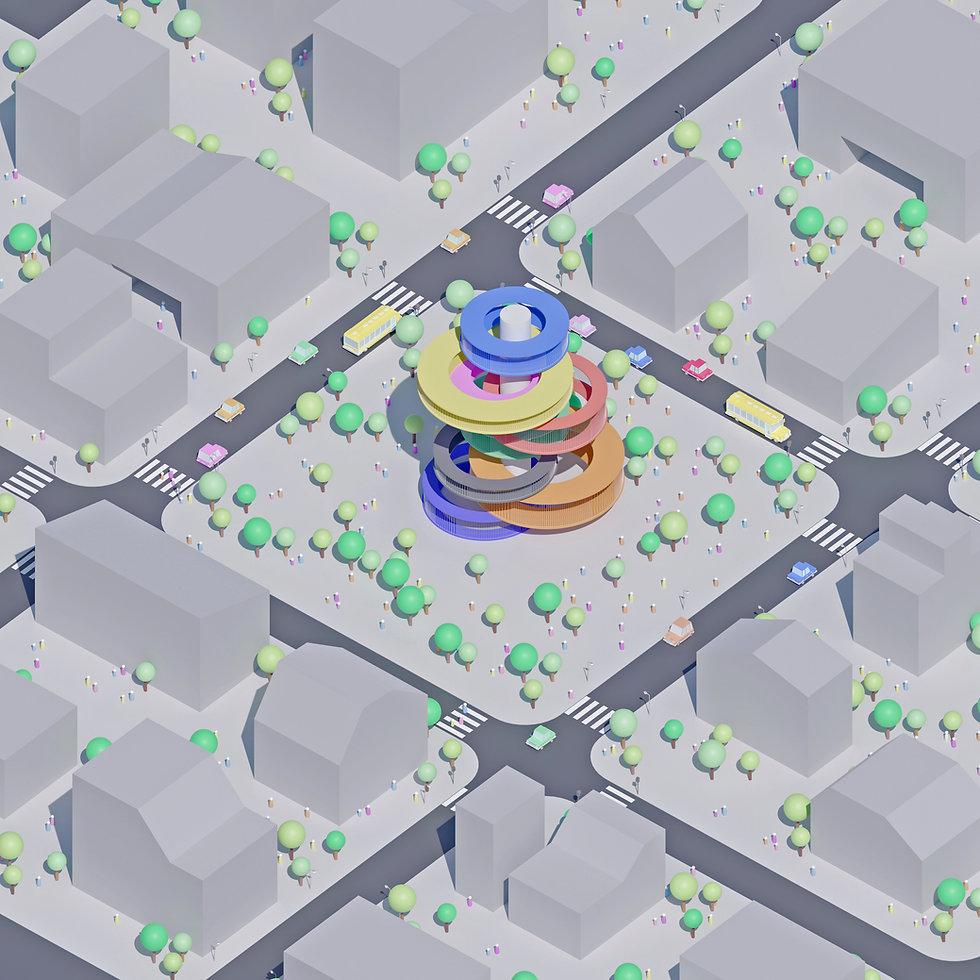 #lowpoly #architecture #illustration #rendering #architecturedesign #blender #blender3d #blenderrender #blend3d #b3d #blendercommunity #blendercentral #cyclesrender #3drender #render #artwork #art #dart #archisource #lowpolyshowcase  #showitbetter #illustrarch #thearchiologist #stack #ring #tower #skyscraper