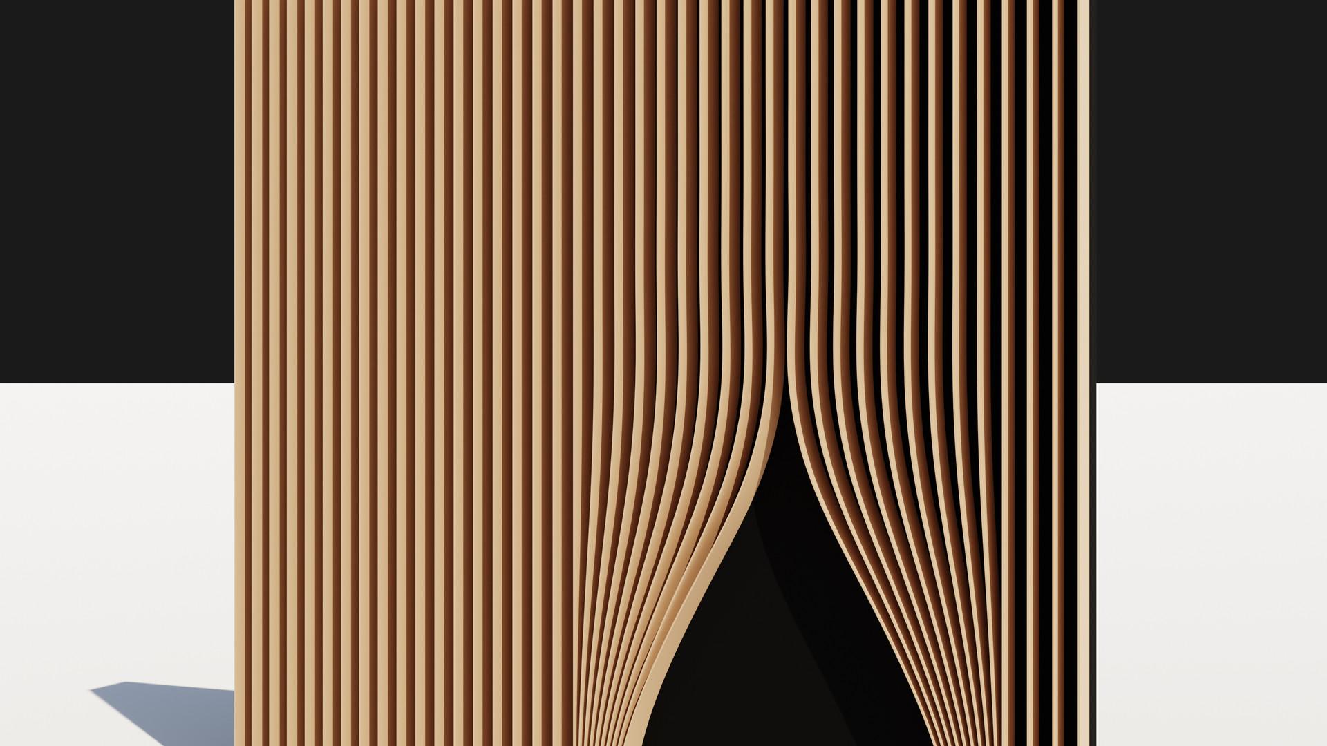 Curtain Louver Facade
