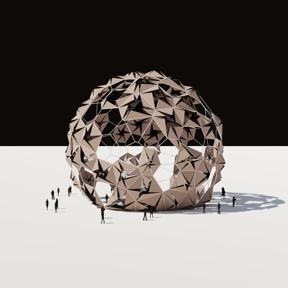 Cracked Voronoi Pavilion