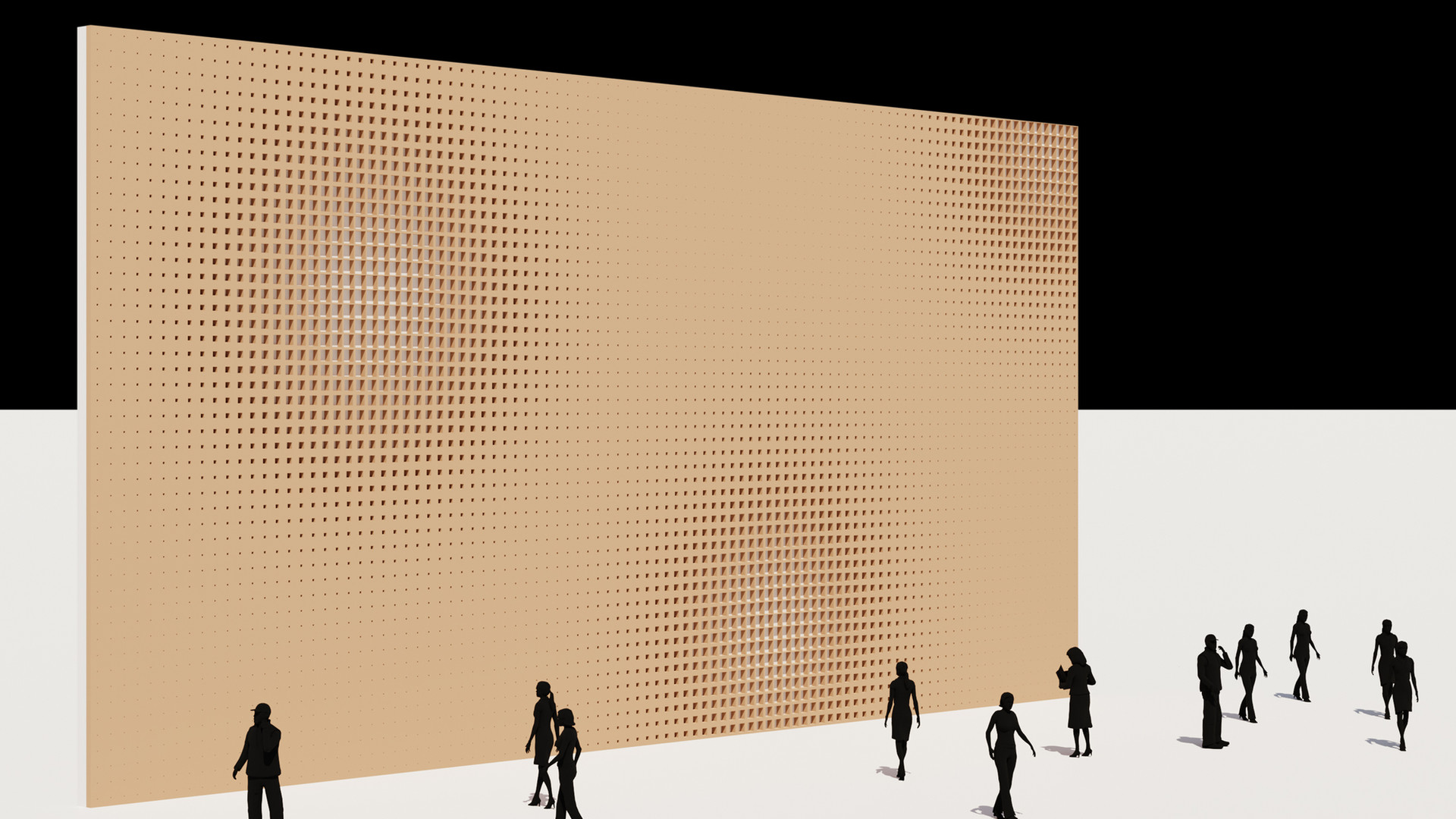 Cube Perforation Pattern