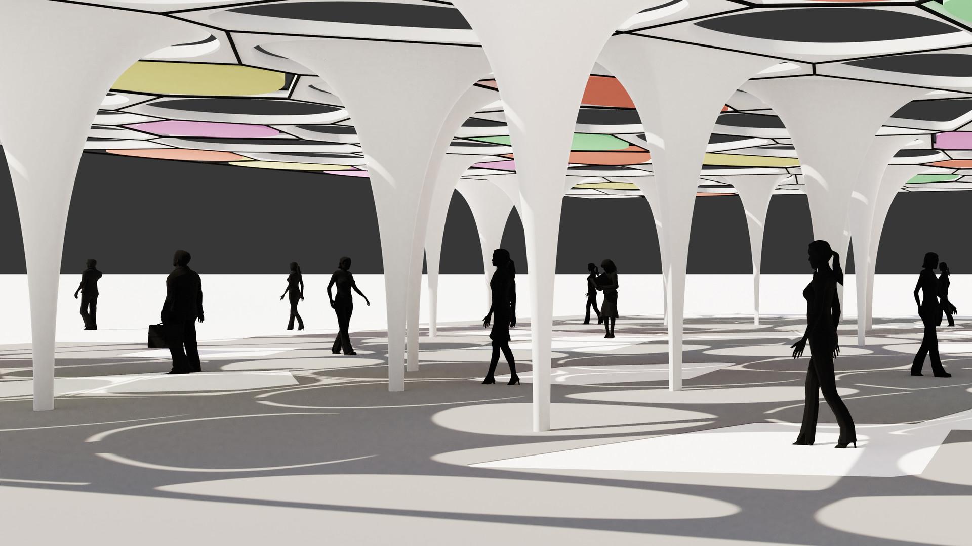 Voronoi Shade Pavilion