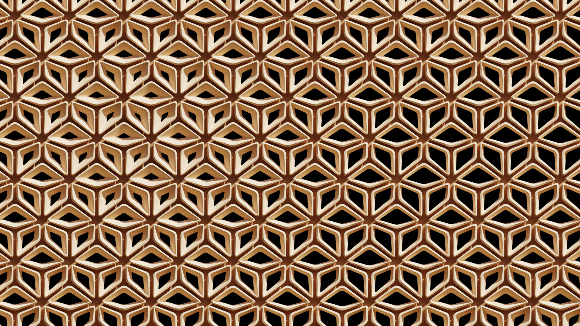 Hexagon Tile Wall Pattern