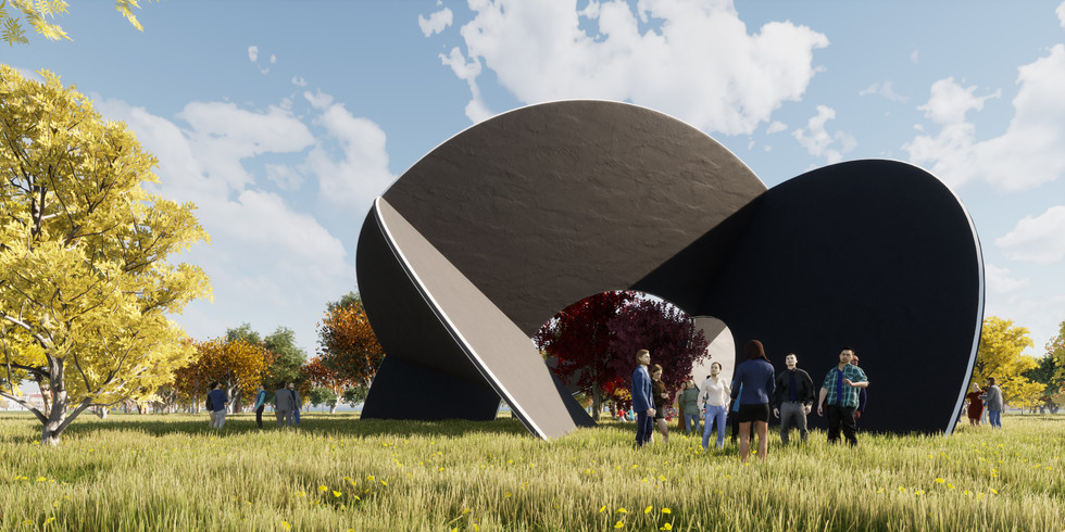 Voronoi Half Dome Pavilion