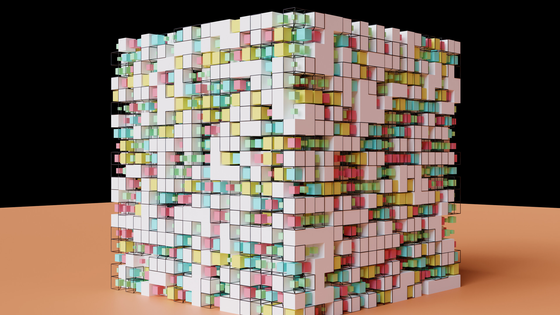 Wireframe & Scaled Cubes 2