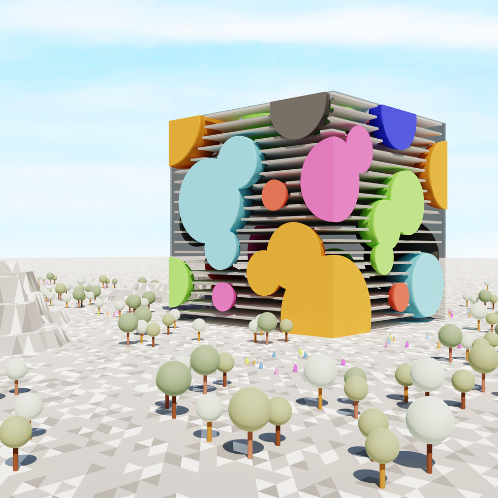 Cube and Bubbles