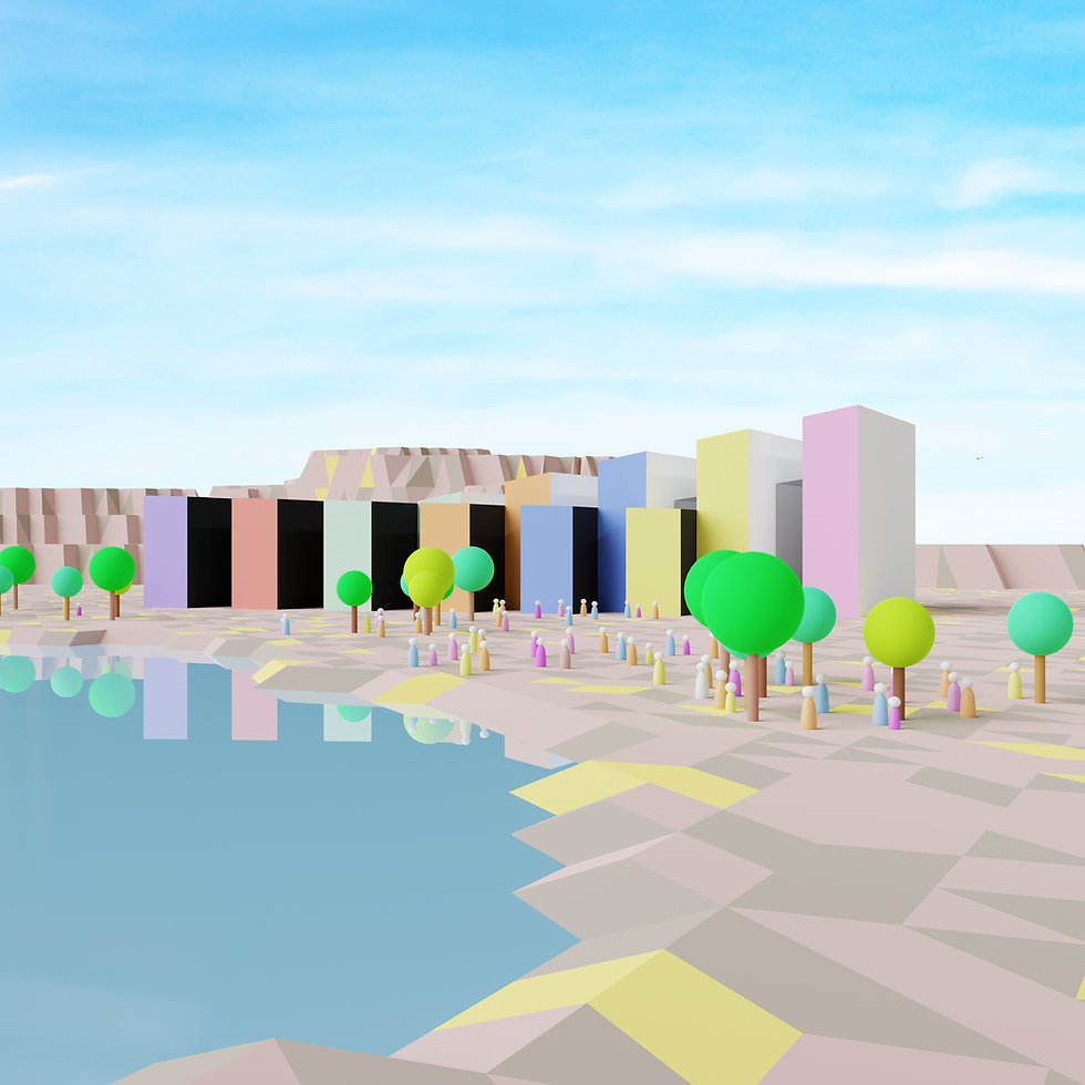 #lowpoly #architecture #3drender #cgi #blender2.80 #artwork #art #snow #winter #brainstorm #diagram #concept #geometry #siteless #sketching #illustration #design #facade #sphere #Rib #structure
