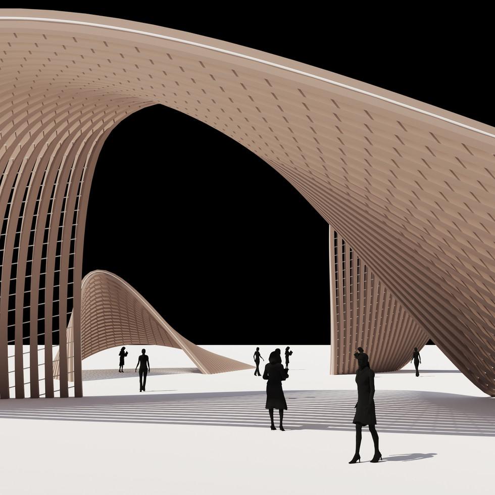 Ribbon Surface Pavilion