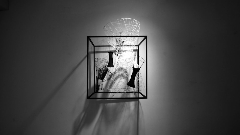 Penetration_#tube #structure #black&white #contrast #artwork #design