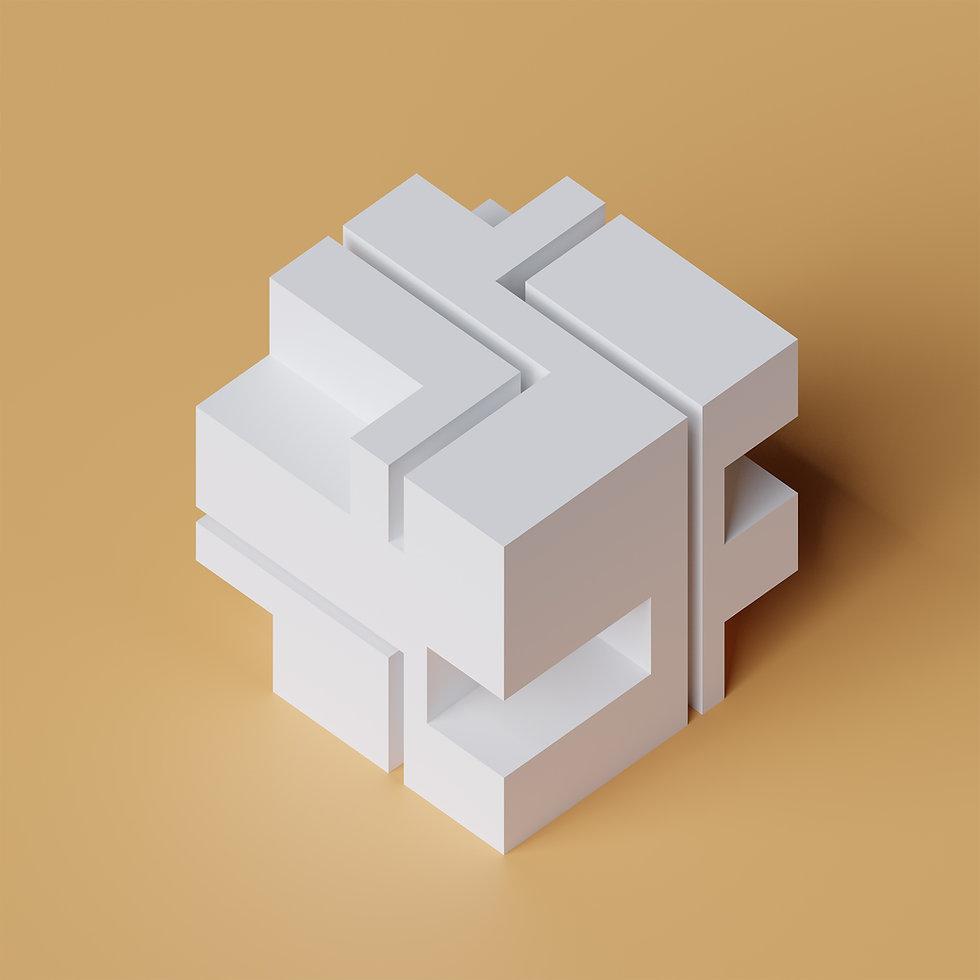 Cube Artwork Series #digitalart #render #rendering #artwork #dart #cg #3dmodeling #blender3d #blenderrender #blend3d #b3d #blendercommunity #blendercentral #cyclesrender #3drender #concept #geometry #voxel #pixel #architecture #design #cube #pattern