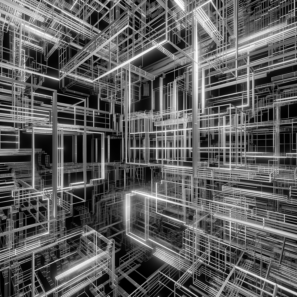 Grid Structure #blender #grid #structure #cube #displace #wireframe