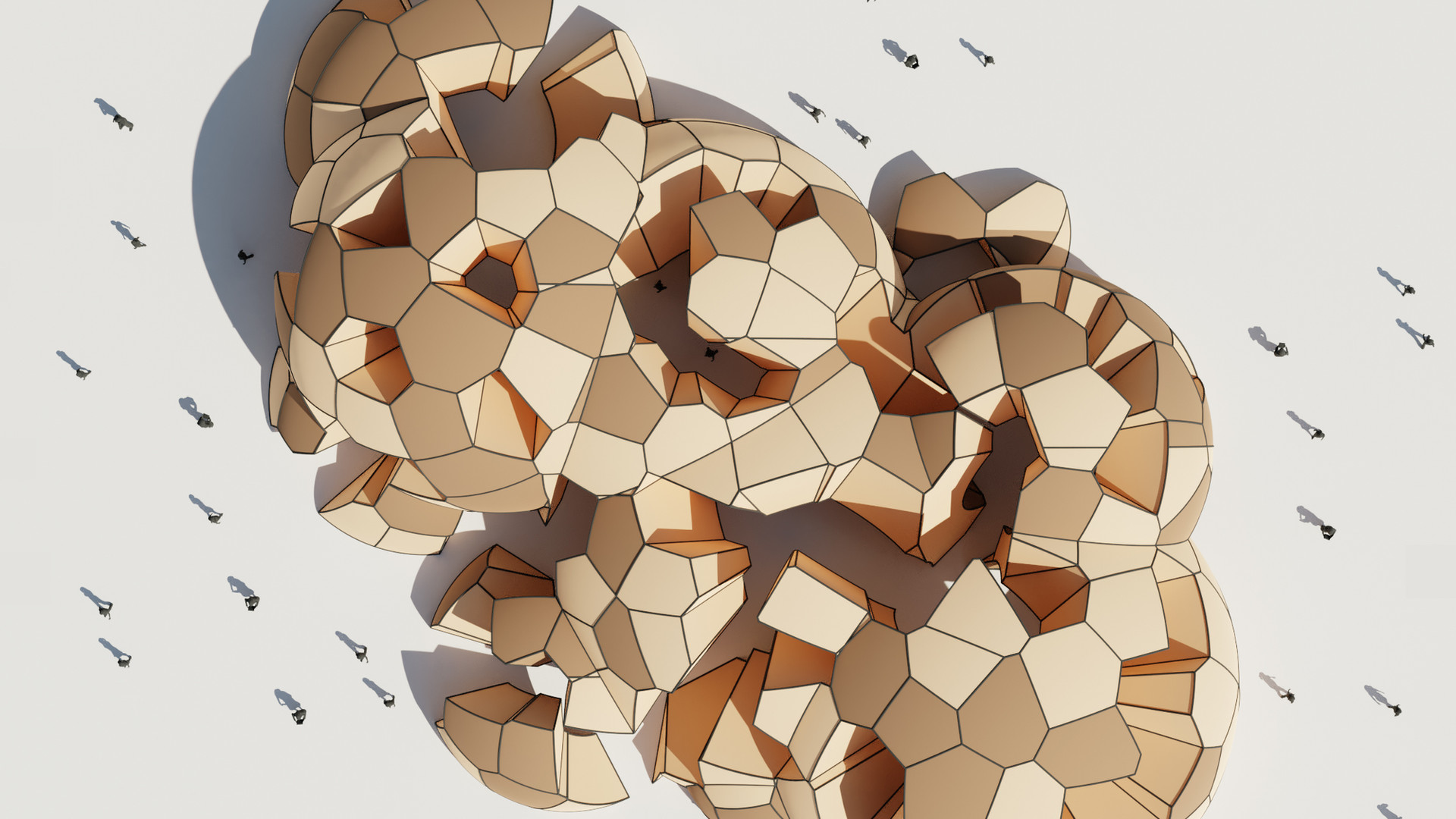 Boolean Sphere and Voronoi