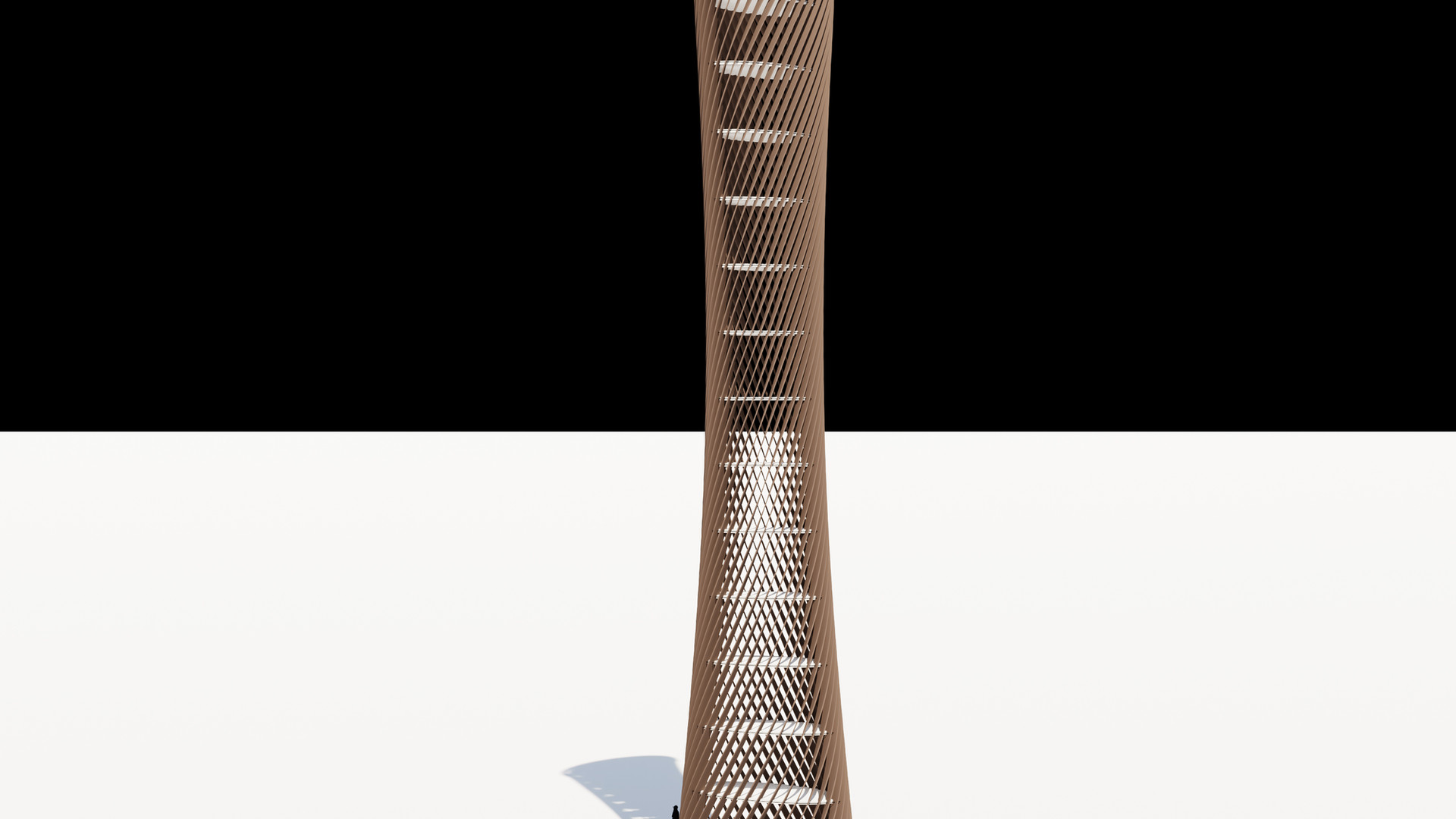 Rotated Louver Tower