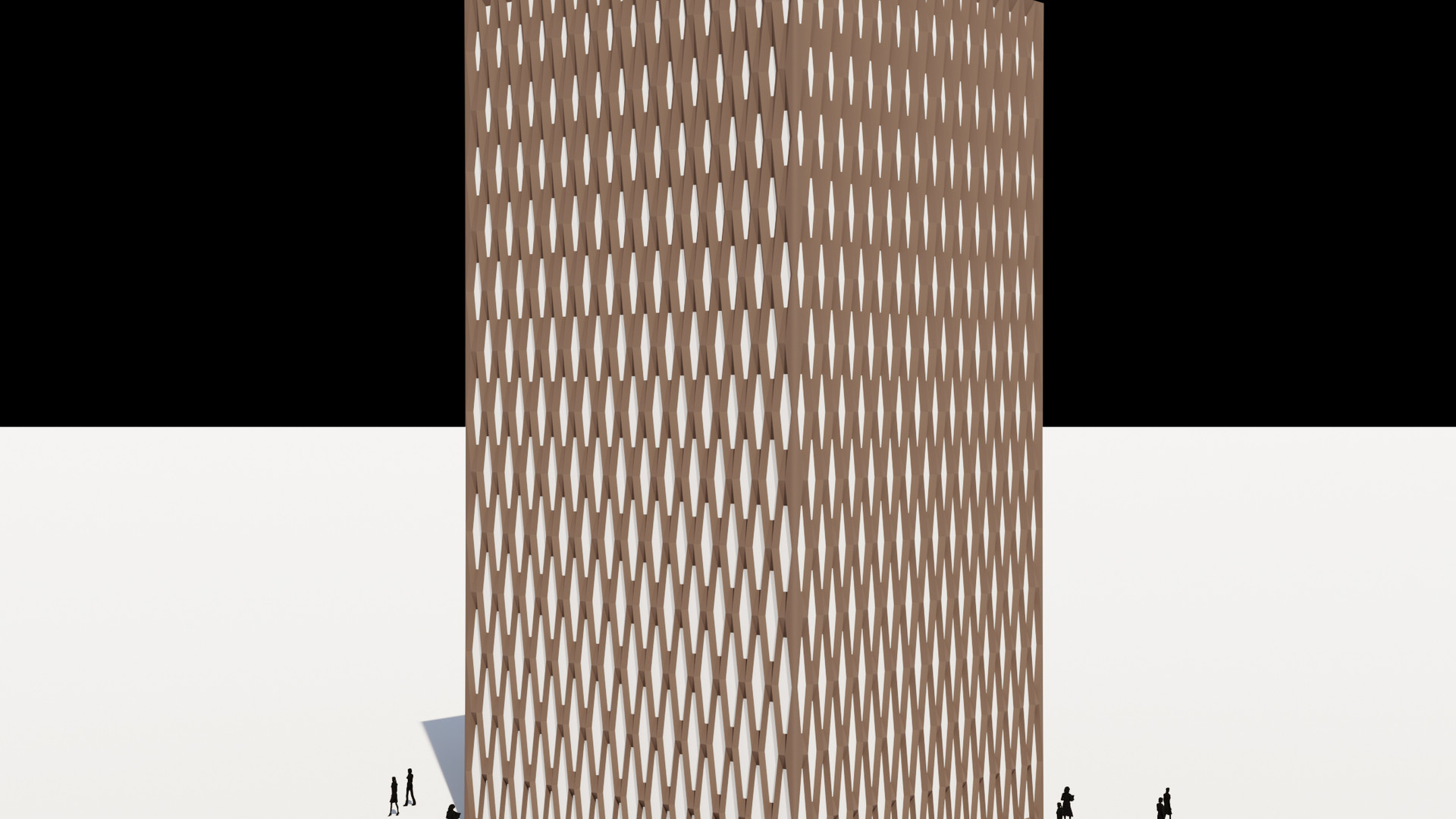 Hexagon Pattern Facade Tower