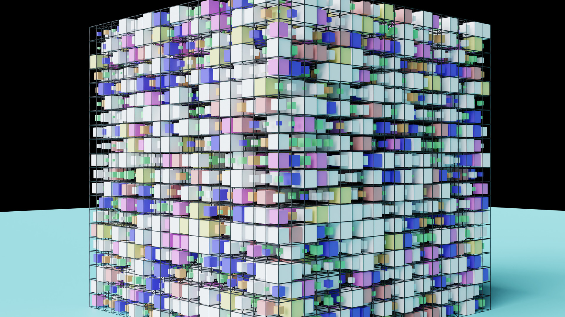 Wireframe & Scaled Cubes