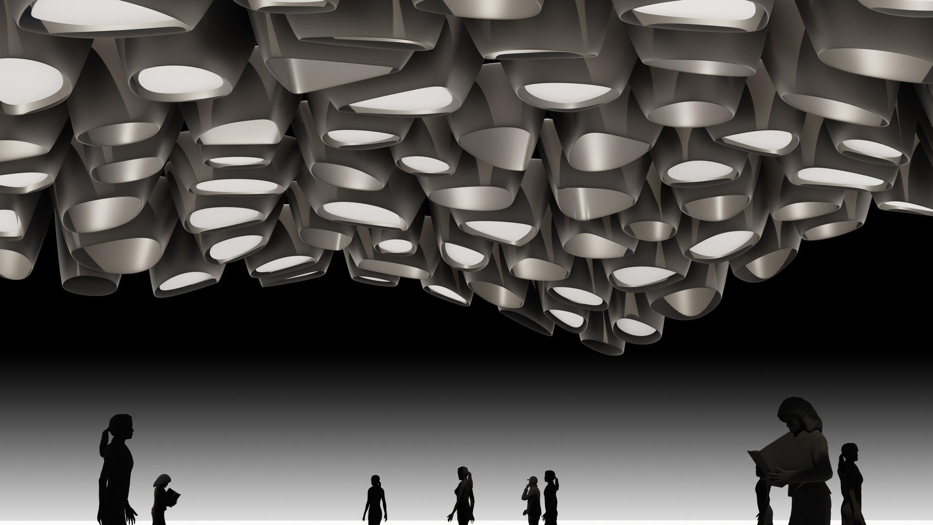Random Shape Pipes Ceiling