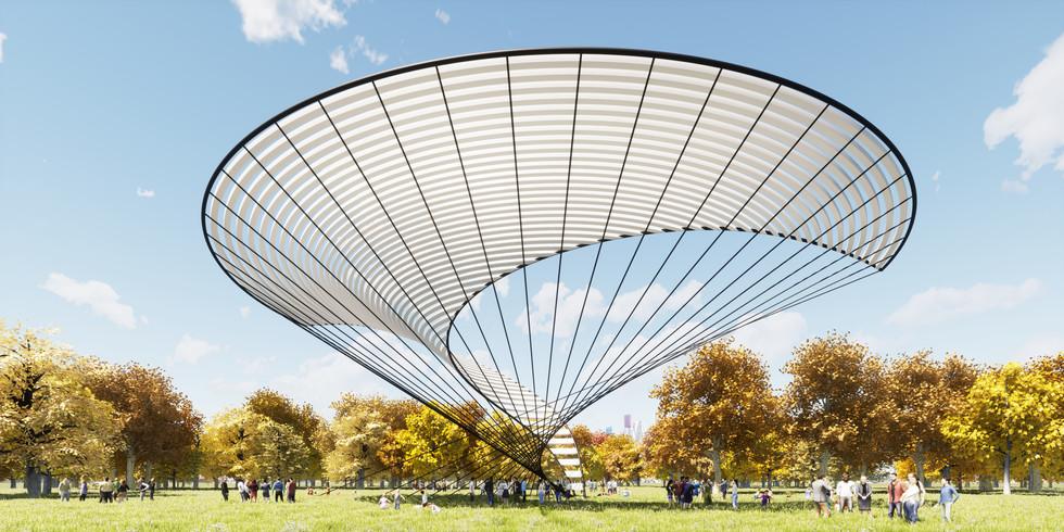 Twisting Shade Pavilion