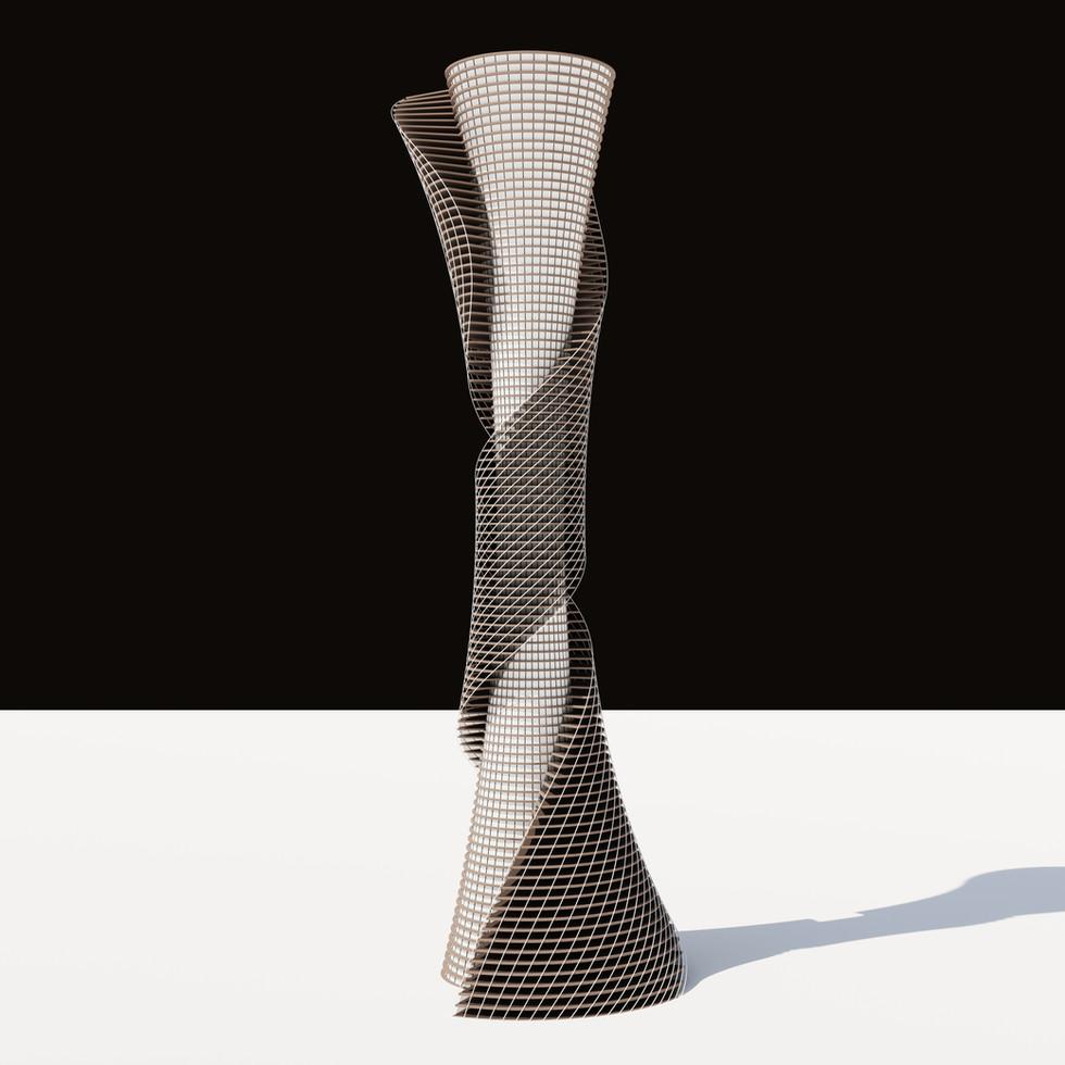 Parametric Spiral Tower