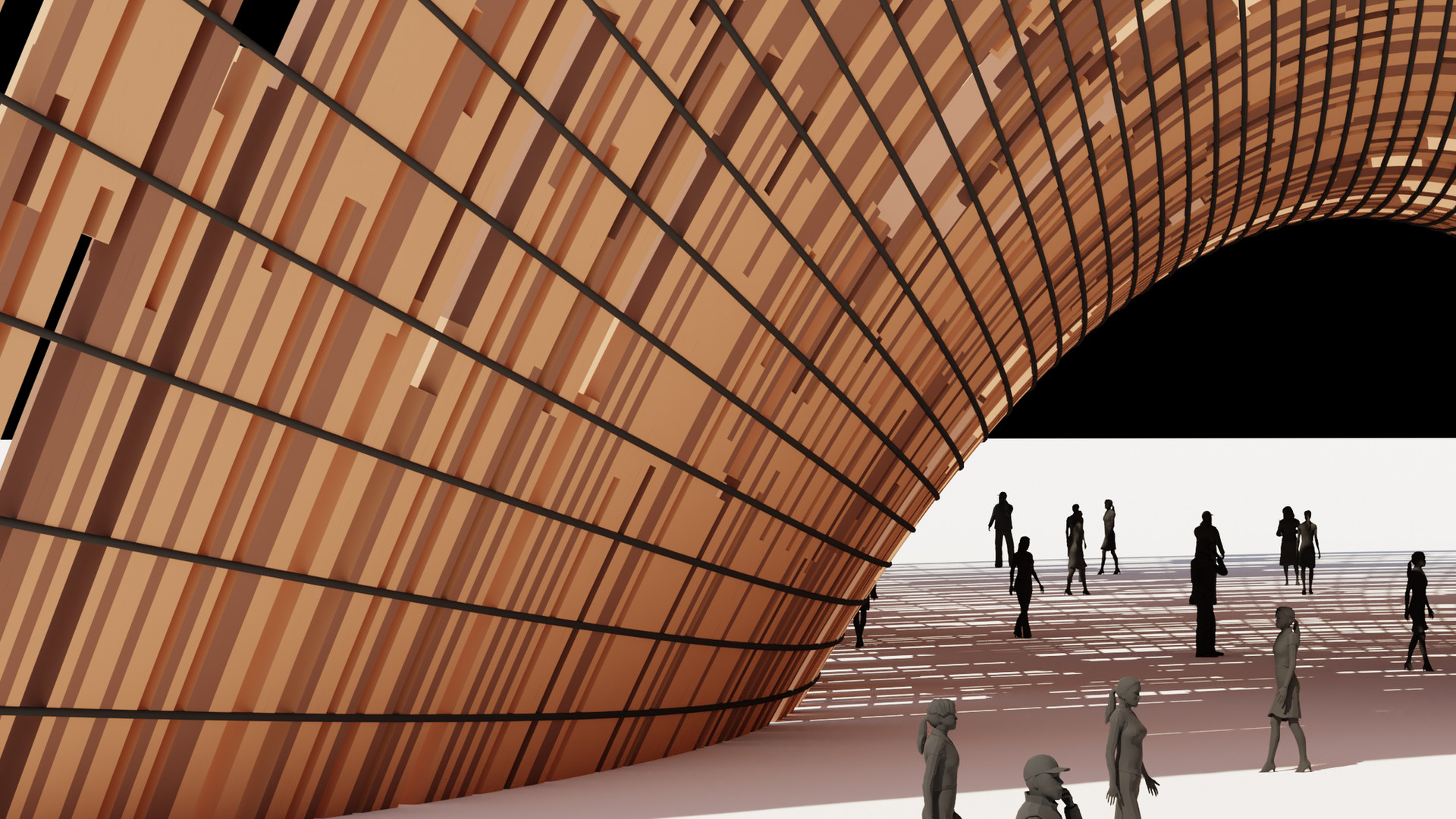 Catenary Curves Paneling