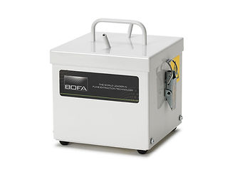 A light weight and portable fume extraction system, which runs from compressed air rather than an electric supply, making it extremely quiet in operation.