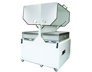 High airflow fume extraction system for reflow ovens, wave solder machines and conformal coating systems.