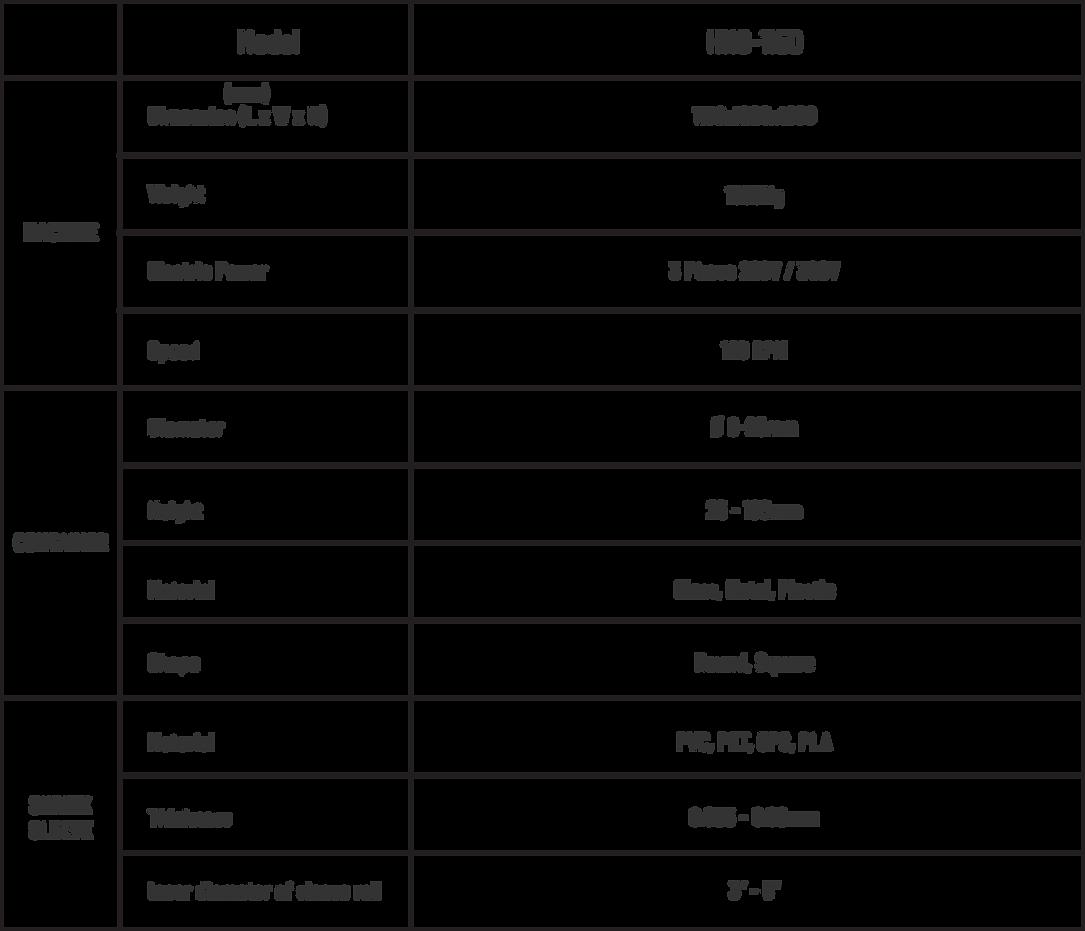 horizontal shrink sleeve applicator tabl
