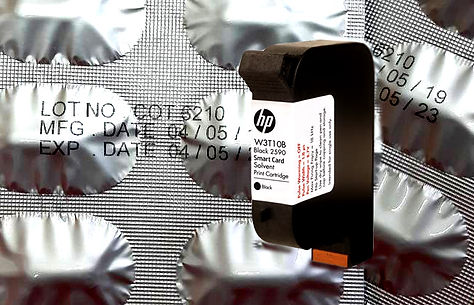 HP2590 ink cartridge solvent base alumin