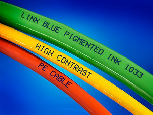 Linx Blue pigmented ink 1033 PE Cable.jp