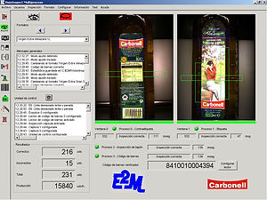 pantalla-Presence of label and cap posit