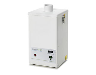 Multi user dust extraction system for hand finishing dental applications.