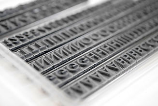 RIBtype type are the pieces of the interchangeable letters, numbers, dates, logos, and mats that are used to create your stamp.