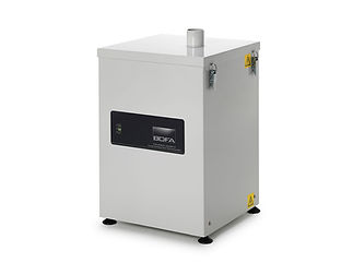 Mid range high vacuum fume extraction system with a built in silencer for extremely low noise levels.