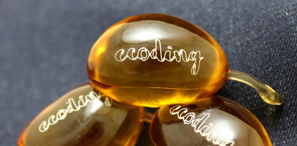 Laser marking on biodegradable capsules