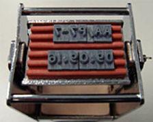 JustRite metal self-inking stamp