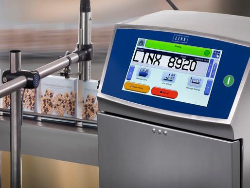 เครื่องพิมพ์วันเดือนปีผลิตวันหมดอายุ ระบบพิมพ์อิ้งเจ็ตพริ้นเตอร์ ยี่ห้อ Linx, UK รุ่น 8920