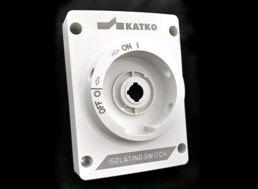 Laser marking at two heights on a plastic switch by Masca Fiber Laser, Spain